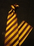 Omega Psi Phi purple and gold diagonal striped silk tie